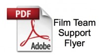 film team support flyer