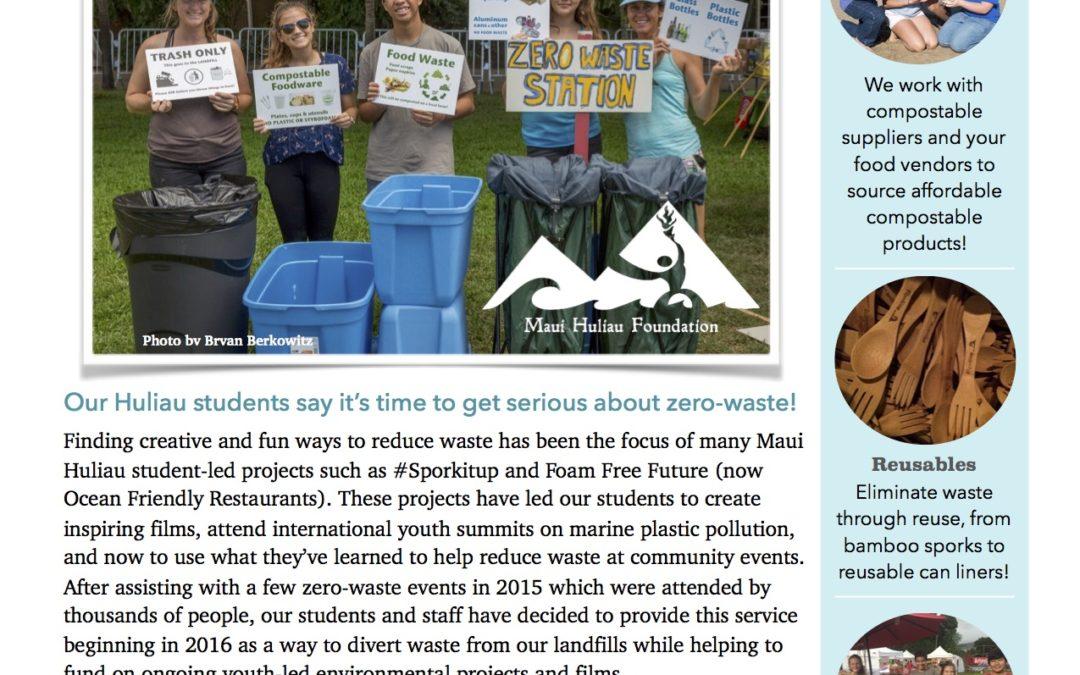 Huliau Zero Waste Events