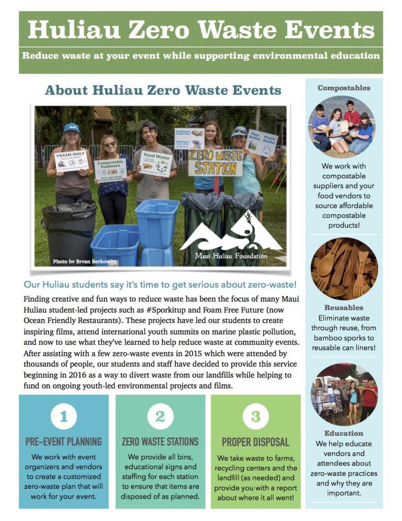 Huliau Zero-Waste Flyer page 1 web