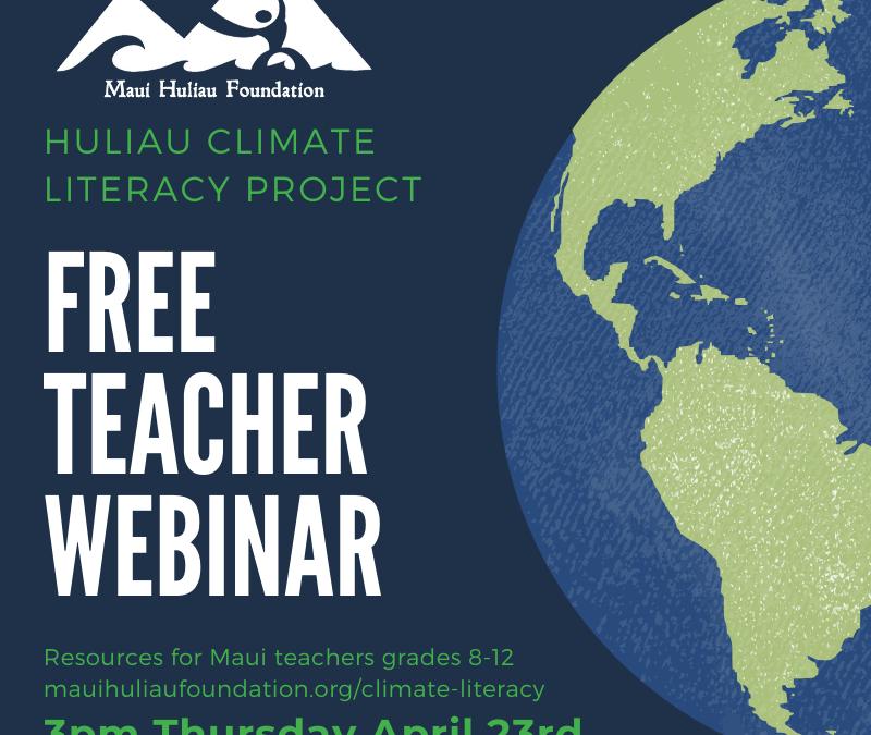 Free Teacher Webinar